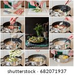 a step by step collage of... | Shutterstock . vector #682071937