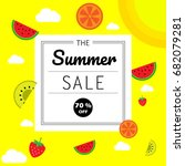 summer sale banner background... | Shutterstock .eps vector #682079281