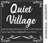 vector set of hand drawn fonts... | Shutterstock .eps vector #682083409