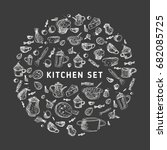 vector illustration of meal.... | Shutterstock .eps vector #682085725