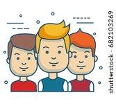 people vector illustration | Shutterstock .eps vector #682103269