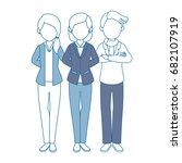 group of people icon | Shutterstock .eps vector #682107919