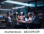 multiethnic business team using ... | Shutterstock . vector #682109239