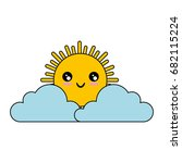 cloud and sun icon   Shutterstock .eps vector #682115224
