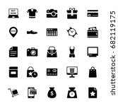 Shopping And Commerce Glyph...