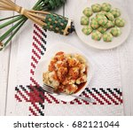 top view malaysia traditional... | Shutterstock . vector #682121044
