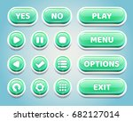 set of green candy buttons for...