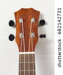 Small photo of Headstock of Ukulele Hawaiian Guitar