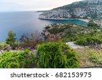 coastline at thassos island | Shutterstock . vector #682153975