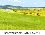 beautiful green fields... | Shutterstock . vector #682156741