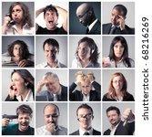 group of sad people | Shutterstock . vector #68216269