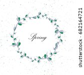 vector circle floral frame on... | Shutterstock .eps vector #682164721