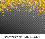 falling autumn leaves. template ... | Shutterstock .eps vector #682165321