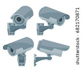 collection icon for cctv camera ... | Shutterstock .eps vector #682170871