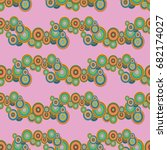 abstract seamless pattern with... | Shutterstock . vector #682174027