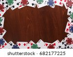 poker background  with copy... | Shutterstock . vector #682177225