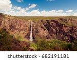 the wallaman falls  a cascade... | Shutterstock . vector #682191181