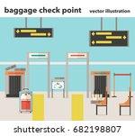 vector illustration of baggage... | Shutterstock .eps vector #682198807