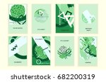 universal abstract posters set. ... | Shutterstock . vector #682200319