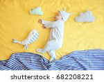cute little baby with toys... | Shutterstock . vector #682208221