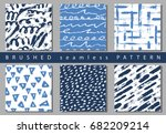 set of vector colorful seamless ...   Shutterstock .eps vector #682209214
