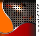 abstract metal texture... | Shutterstock .eps vector #682211989