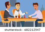 young business people having... | Shutterstock .eps vector #682212547