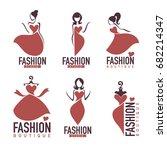 fashion and beauty salon ... | Shutterstock .eps vector #682214347