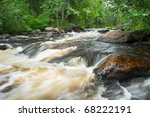 Rapies on Papaneau Creek near Bancroft Ontario Canada - stock photo