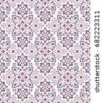 boho flower pattern | Shutterstock .eps vector #682223311