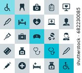 medicine icons set. collection... | Shutterstock .eps vector #682230085