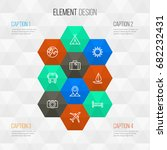 exploration outline icons set....   Shutterstock .eps vector #682232431