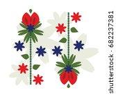 art boho flower. ethnic... | Shutterstock .eps vector #682237381