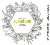 superfood hexagon banner ... | Shutterstock .eps vector #682243231