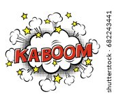 ka boom  phrase in speech... | Shutterstock .eps vector #682243441