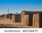 Small photo of Traditional guadua wood houses at La Guajira, Colombia