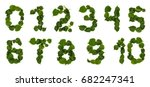 numbers from leaves and flowers ... | Shutterstock . vector #682247341