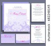 set of wedding cards or...   Shutterstock .eps vector #682248145