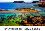 porto santo island is a... | Shutterstock . vector #682251661