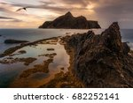 porto sanot  unlike mountainous ...   Shutterstock . vector #682252141
