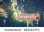 university ave street sign at... | Shutterstock . vector #682261471