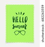 hello summer vector greeting... | Shutterstock .eps vector #682263559