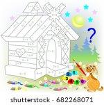 mathematical worksheet for... | Shutterstock .eps vector #682268071