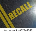 Small photo of Automotive recall procedures concept