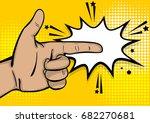 pop art comic text cartoon...   Shutterstock .eps vector #682270681
