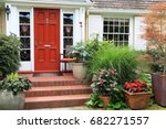 Charming Small Home With Red...