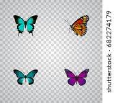 realistic copper  purple... | Shutterstock .eps vector #682274179