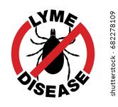 an anti lyme disease tick bite... | Shutterstock . vector #682278109