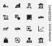 set of 16 editable banking...