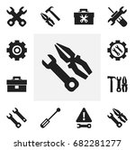 set of 12 editable repair icons....